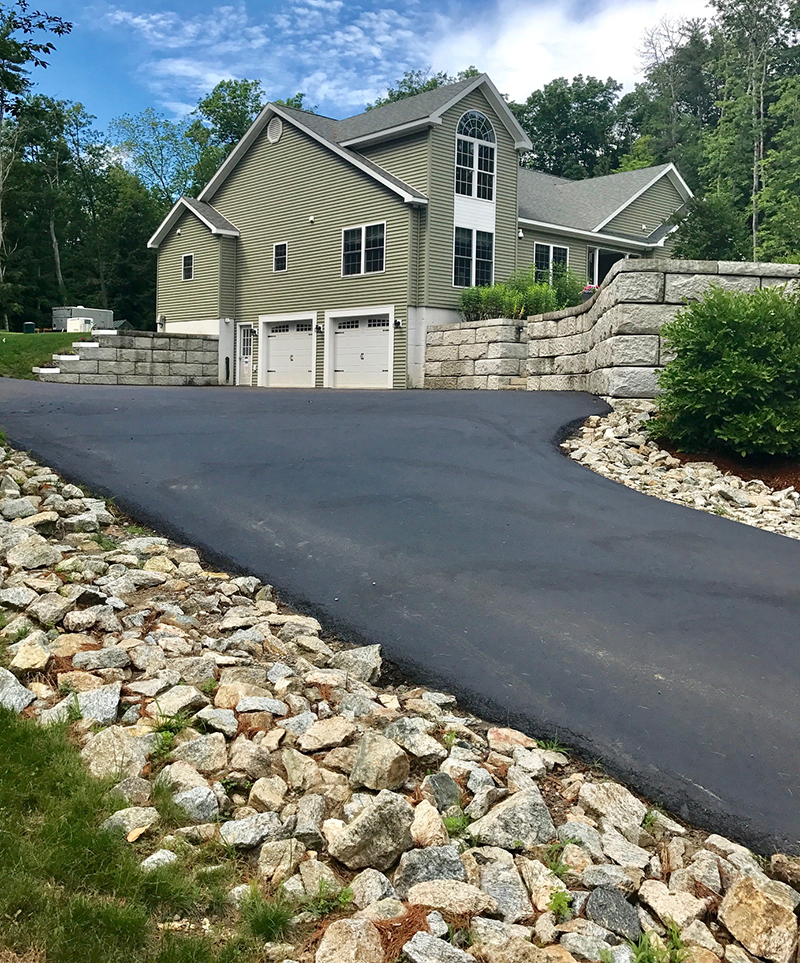Retaining Wall and Driveway